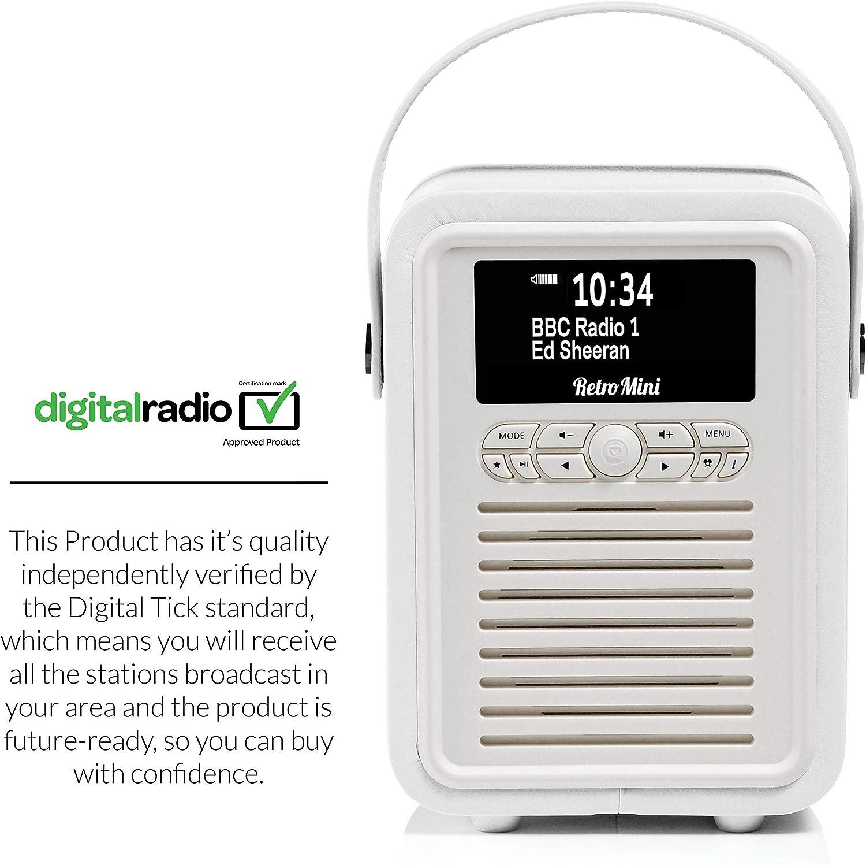 VQ Retro - Radio Digital y FM con Bluetooth y Despertador, Color Blanco: Amazon.es: Electrónica