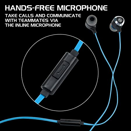 d366fa0b5cb Amazon.com: ENHANCE Mobile Gaming Earbuds for PS4, PC, Xbox One & Nintendo  Switch with Bass Vibration Feedback & Microphone - Full Metal Housings, ...