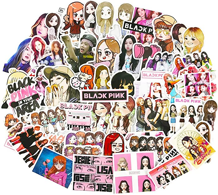 Blackpink Stickers Cute Kpop Laptop Water Bottles Phone Car Skateboard Luggage Guitar Graffiti Decals 54pcs
