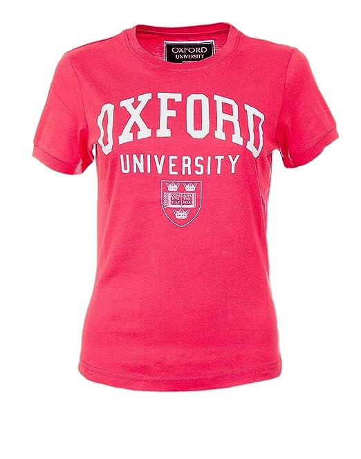 Producto oficial de Oxford, camiseta de mujer Rosa rosa S: Amazon.es: Ropa y accesorios