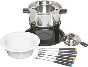 KitchenCraft Juego de Fondue 3 en 1 con Tenedores Codificados por Colores (para Fondue de Chocolate, Carne y Queso)
