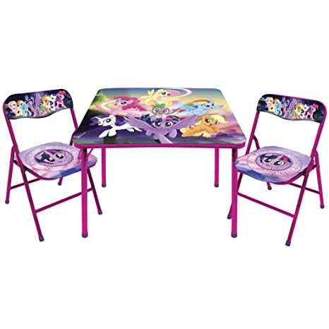 Amazon.com: My Little Pony Table and Chair Set: Toys & Games