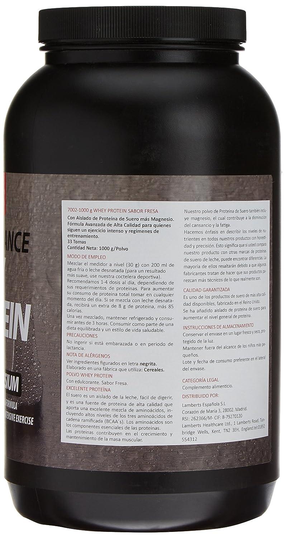 Lamberts Whey Protein Suplemento para Deportistas, Sabor a Fresa - 1000 gr: Amazon.es: Salud y cuidado personal