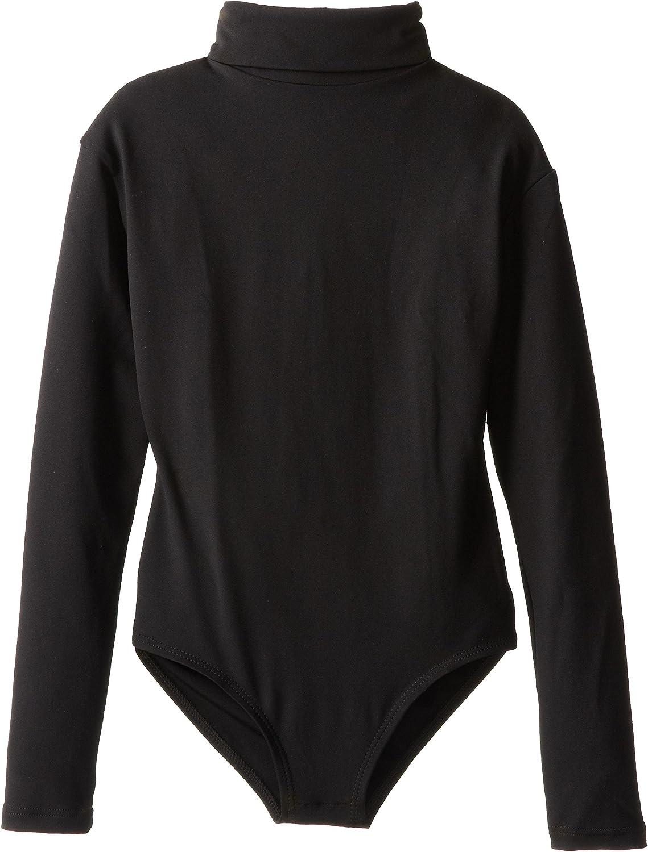 Capezio Girls' Team Basic Turtleneck Long Sleeve Leotard with Snaps: Clothing