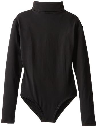 b5b9c2969ce Capezio Little Girls' Team Basic Turtleneck Long Sleeve Leotard with Snaps,  Black, Small