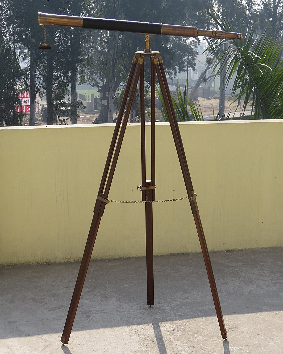 NM071071B Brass Harbor Master Telescope with Tripod Stand 65'' - Case Pack of 6