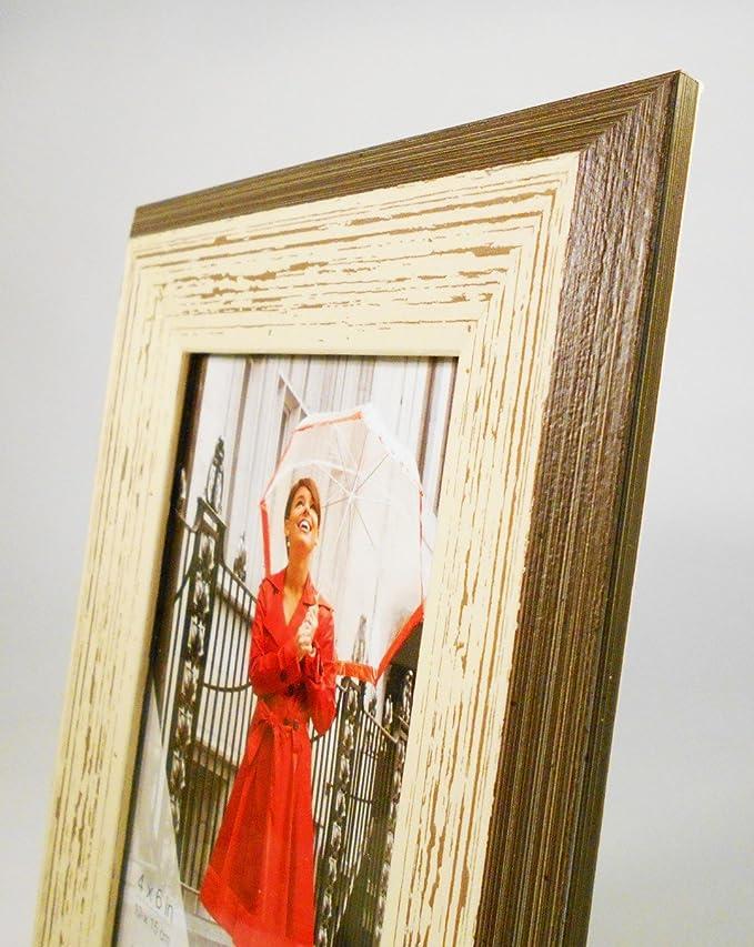 Amazon.de: Shabby Chic Holz Bilderrahmen, 4 Größen erhältlich, holz ...
