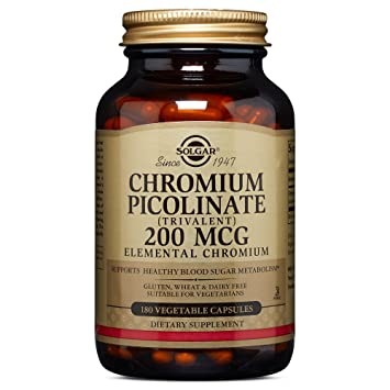 Solgar – Chromium Picolinate 200 mcg, 180 Vegetable Capsules