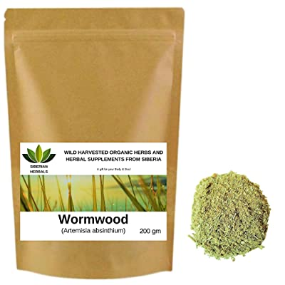 Wild Harvested Organic Wormwood (Artemisia Absinthium) ПОЛЫНИ ГОРЬКОЙ from Altai Mountains, Siberia, Russia. (200 gm): Health & Personal Care