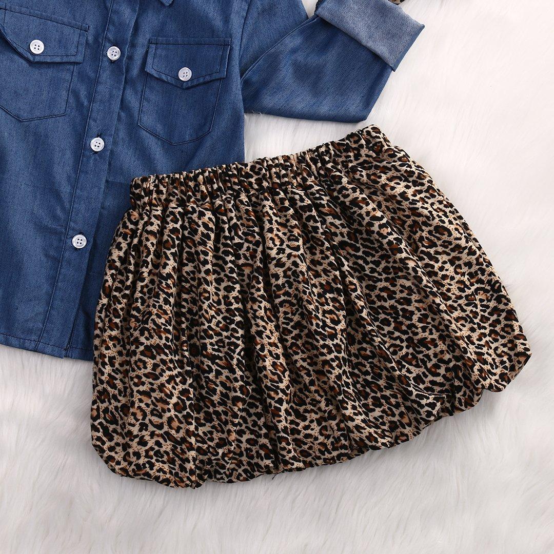 3pc Cute Baby Girl Blue Jean Shirt Princess Tulle Overlay Lace Dress+Headband