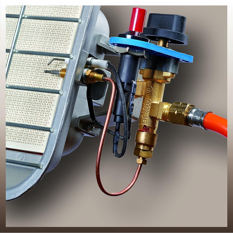 Einhell Gas estufa GS 4600 P (capacidad de calefacción de hasta 4,6 kW, con piezo-encendido, con regulador de presión, manguera, regulador, ...