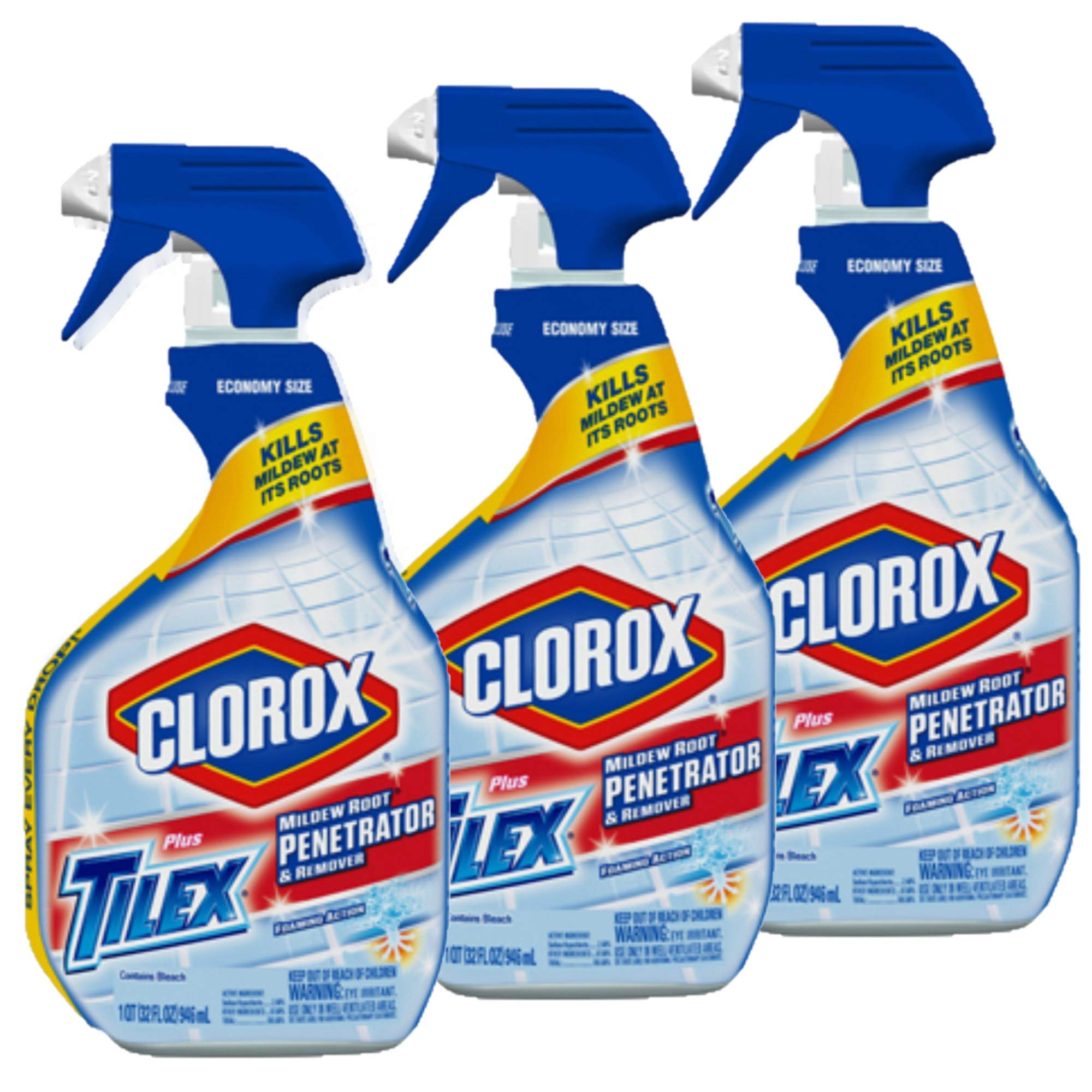 Tilex 00263 Mildew Root Penetrator and Remover Spray Bottle, 32 fl oz Trigger Spray Bottle - 3 Pack by Clorox (Image #1)