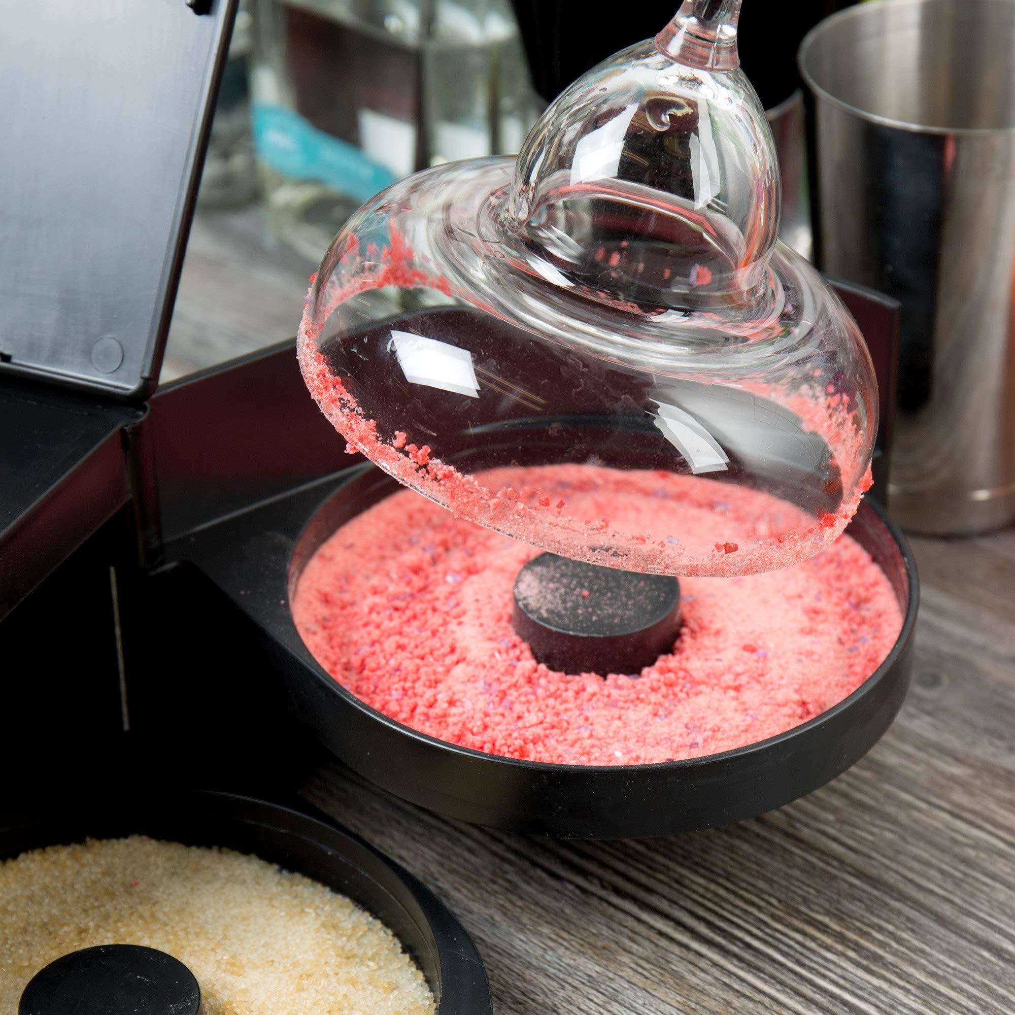 New Star Foodservice 48377 Plastic 2-Tier Bar Glass Rimmer, Black