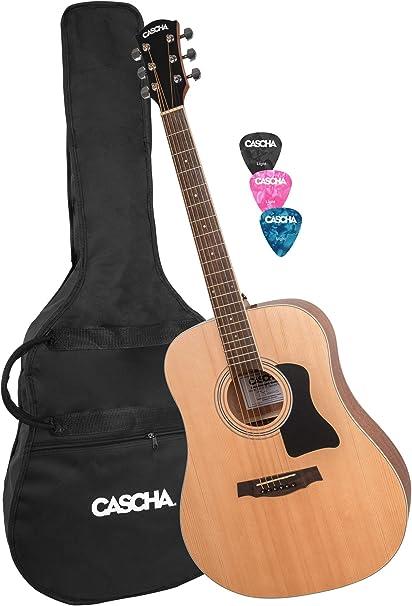 CASCHA Juego de guitarra occidental con bolsa de trabajo, 3 picos ...