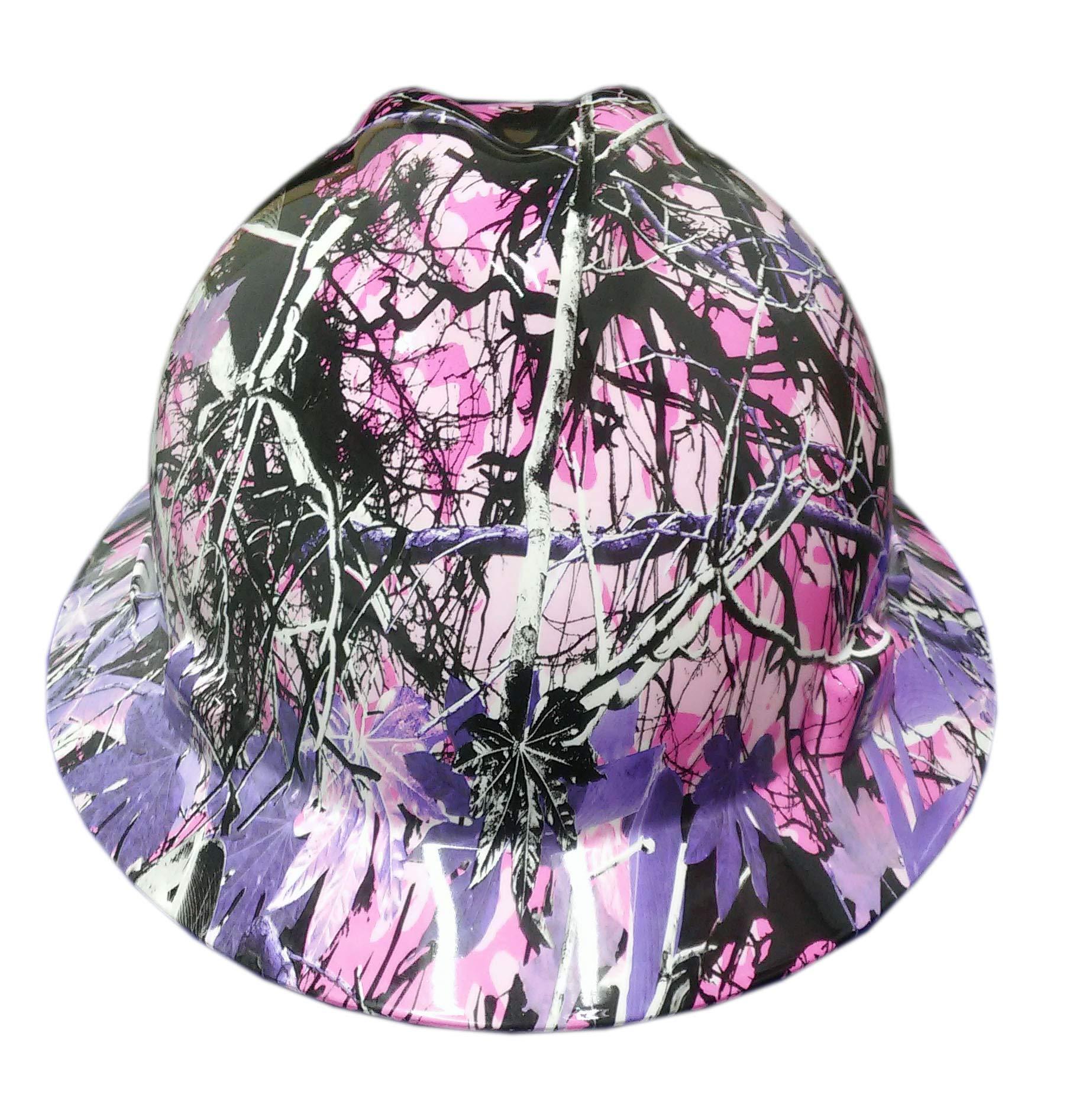 Izzo Graphics Camo Girl MSA Full Brim Hard Hat