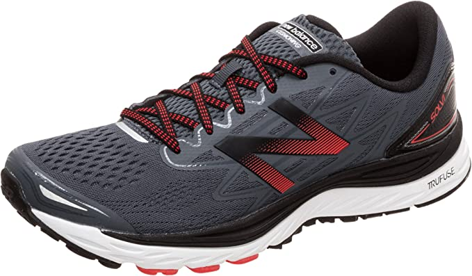 New Balance NBX Solvi Sneakers Laufschuhe Herren Grau(Anthrazit)/Rot