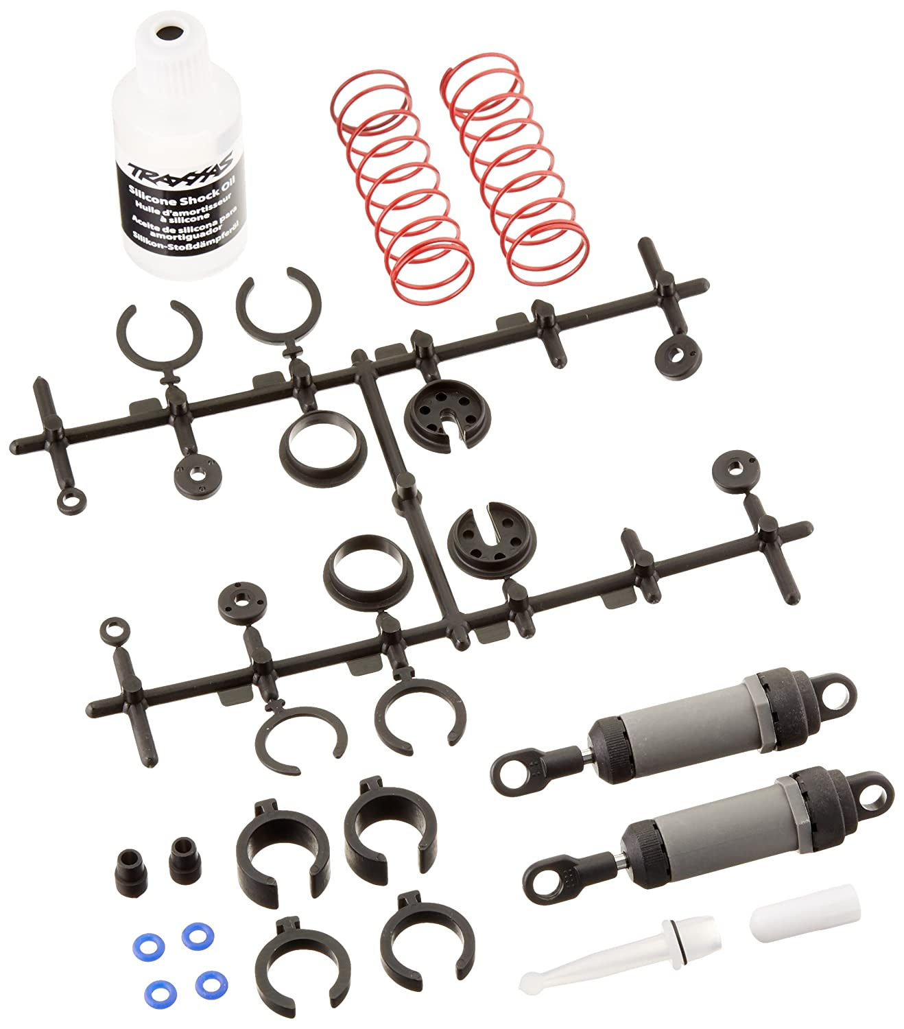 Traxxas 3760A Gray Ultra Shocks Complete with Springs, Long (pair) TRA3760A