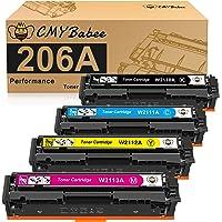 CMYBabee Compatible Toner Cartridge Replacement for HP 206A W2110A W2111A W2112A W2113A for HP Color LaserJet Pro M255dw…
