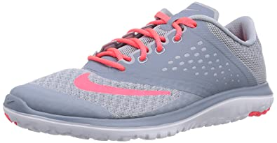 best sneakers 42607 398a7 NIKE Women s FS Lite 2 Running Shoe, Light Magnet Grey Hyper Punch Magnet