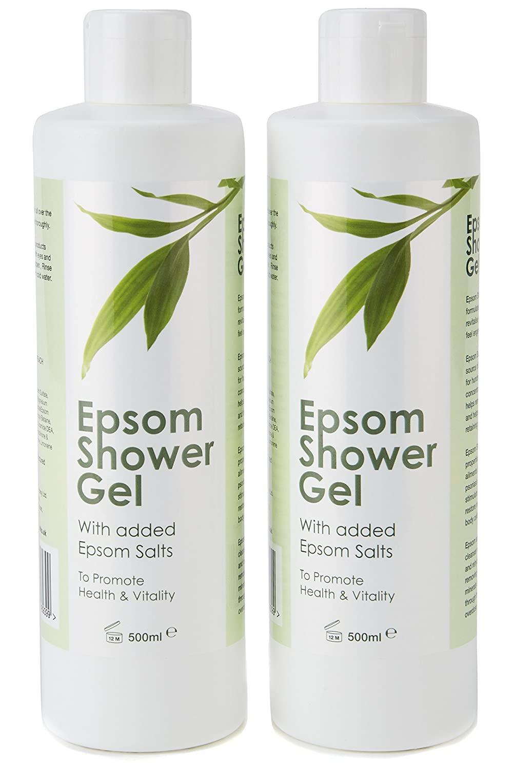 2 x Epsom Shower Gel - Free Next Day Delivery Epsom Salts Co.