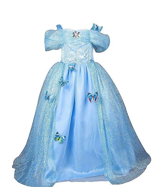 Eyekepper Princesas para Hacer Vestidos de para niña Vestidos Fiesta de cumpleaños 130cm