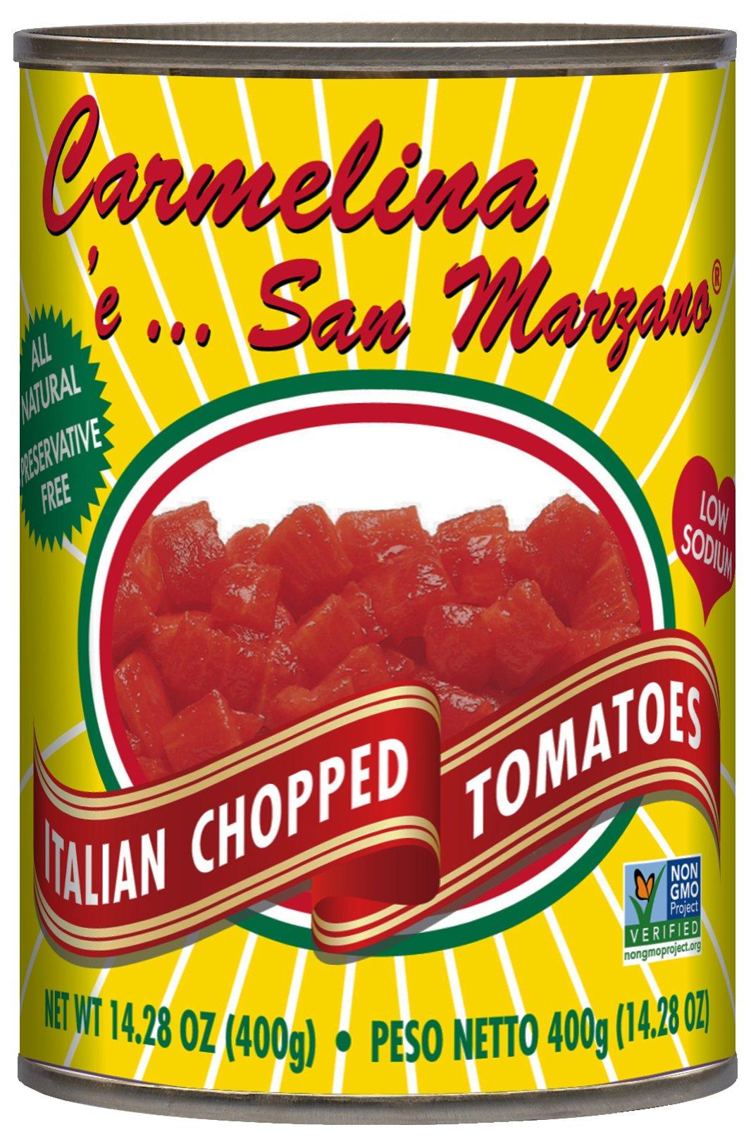 Carmelina San Marzano Italian Chopped Tomatoes in Puree, 14.28 ounce (Pack of 12) by Carmelina Brands