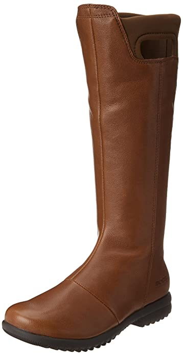 Bogs Women's Alexandria Tall Waterproof Leather Boot, Chocolate