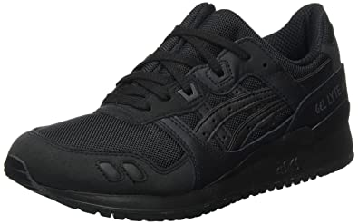 Asics Lyte III - Chaussures - Baskets Basses - Mixte Adulte - Noir (Black/Black) - 42 (Taille Fabricant: 7.5)