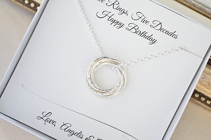 Amazon 50th Birthday Necklace For Wife Gift