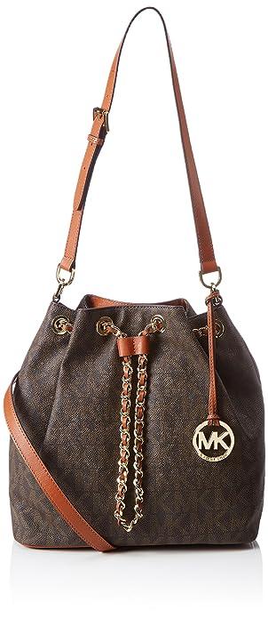 4df3b188a20c Amazon.com  Michael Kors Frankie Large Drawstring Convertible Shoulder Bag  in Brown  Shoes