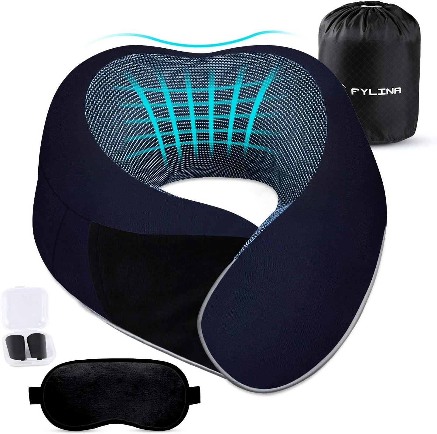 FYLINA Updated Travel Pillow, Memory