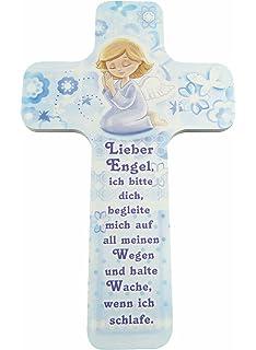 Kreuz Für Kinderzimmer | Kinder Kreuz Kinderzimmer Schutzengel Mit Harfe Amazon De Baby