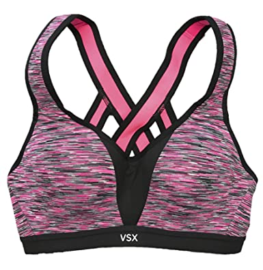 56b059f1f6d8c Image Unavailable. Image not available for. Color  Victoria s Secret  Women s Incredible By Victoria s Sport Bra 32DD Black Spacedye
