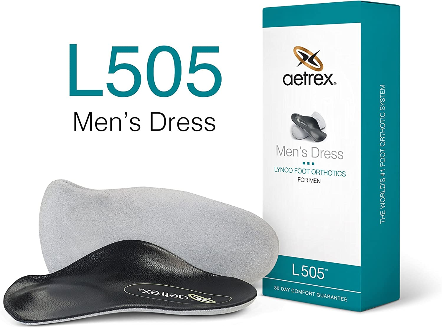 Aetrex Lynco Orthotic L500 Dress Series Insole Men/'s 12