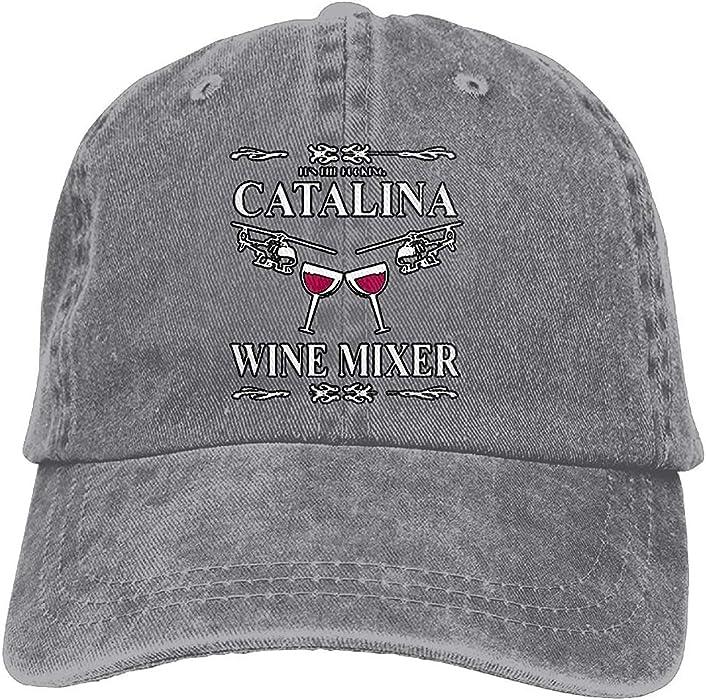 Unisex-Adult Fuckin Catalina Wine Mixer Mesh Dancing Cap Hat Black