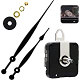 Quartz DIY Wall Clock Movement Mechanisms Battery Powered DIY Repair Parts Replacement with 2 long hands,3/10 Inch Maximum Dial Thickness,29/32 Inch Total Shaft Length.