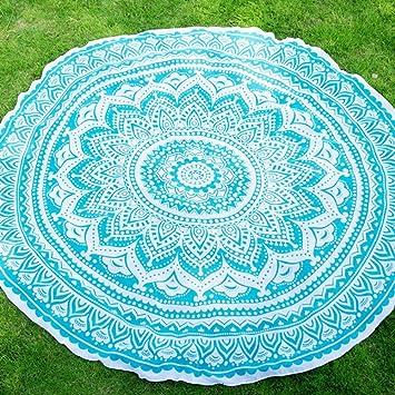 elchom color sólido redondo indio Mandala Boho toalla de playa manta Roundie mantel esterilla de yoga