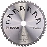 Bosch 2609256879 Précision Lame de scie circulaire 48 dents carbure Coupe nette Diamètre 250 mm alésage/alésage avec bague de réduction 30 Largeur de coupe 3,2 mm