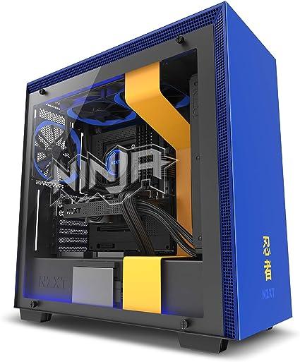 NZXT H700i - Caja PC Gaming de tamaño mediano ATX - Dispositivo inteligente con tecnología CAM - Control de RGB y ventilador - Panel de vidrio templado – Edición Ninja: Amazon.es: Informática
