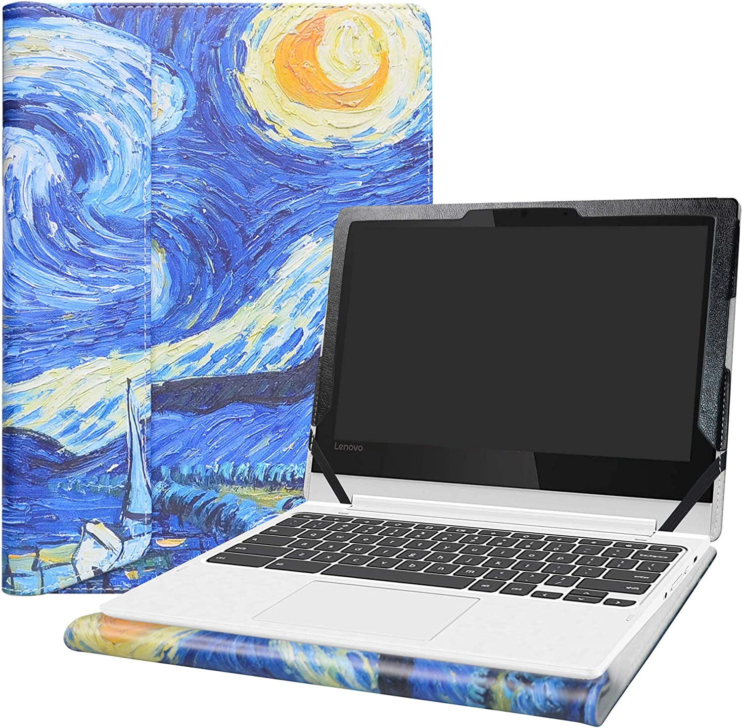 "Alapmk Protective Case Cover for 11.6"" Lenovo Chromebook C330 Series Laptop[Warning:Not fit Lenovo Chromebook S330],Starry Night"