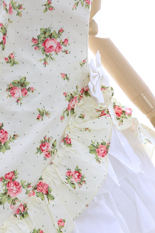 JL-572-4 Gelb Gelb Gelb Blumen Rosen Klassik Gothic Lolita Kleid Set Kostüm Cosplay (EUR S) 1e0267
