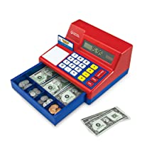 Learning Resources Pretend & Play Calculator Cash Register, Classic Counting Toy...