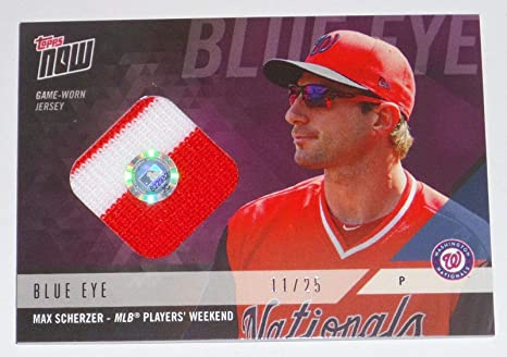 f2d901c13fd 2018 Max Scherzer Topps Now Game Used Nats Mlb Players Weekend Jersey Relic  Card - MLB