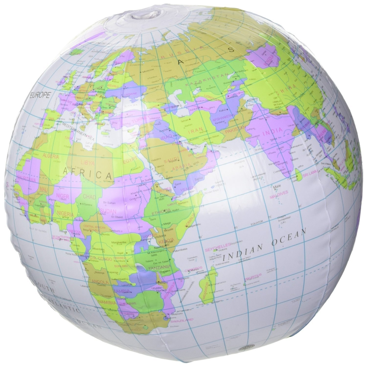 HENBRANDT Inflatable Globe Blow Up Globe World Map Atlas Ball Earth Map Blow Up Ball 40cm