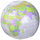 Inflatable Globe Blow Up Globe World Map Atlas Ball Earth Map Blow Up Ball 40cm by Henbrandt