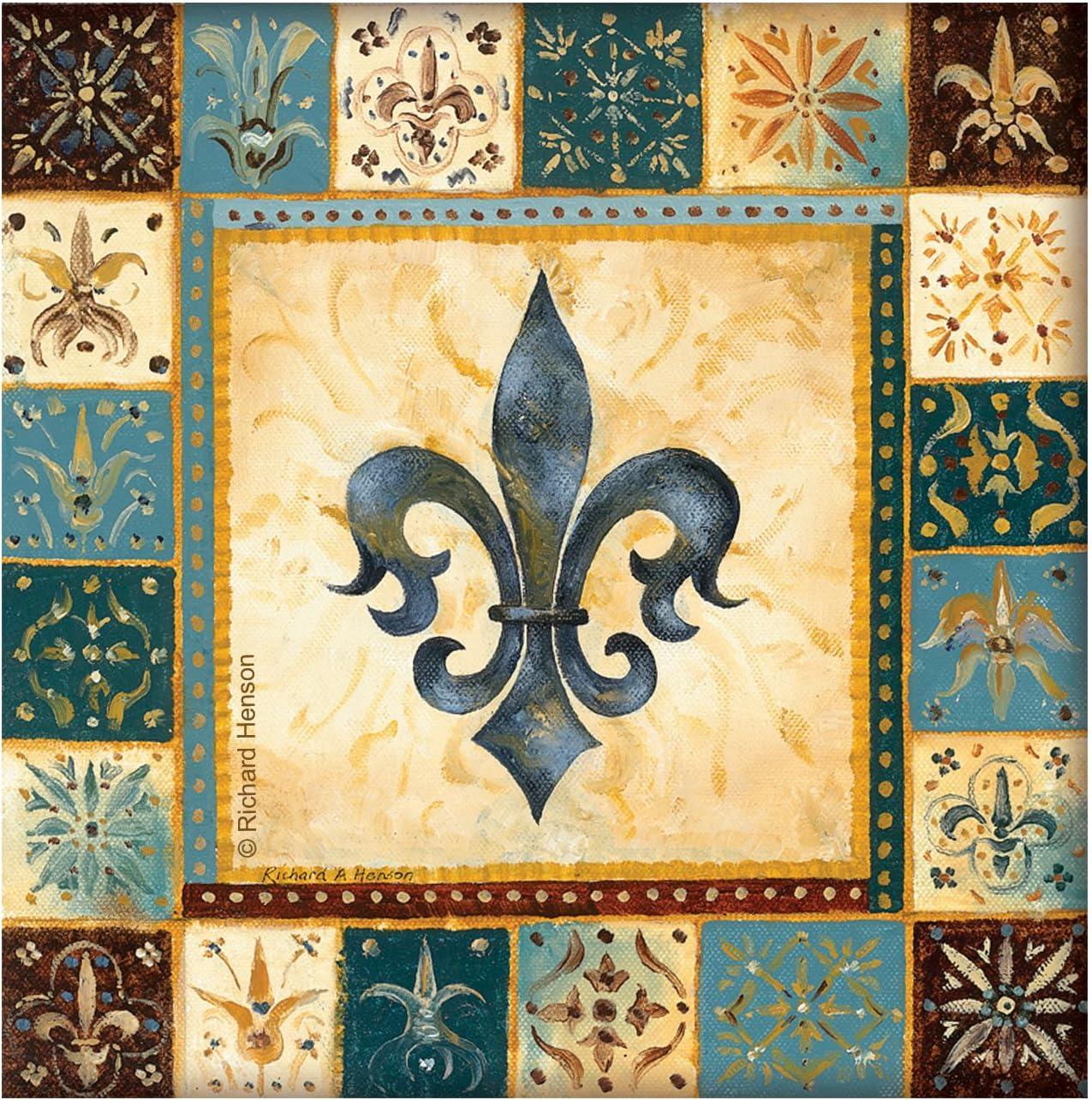 Thirstystone 4-Piece Blue Fleur de Lis I Coaster Set