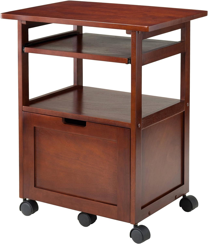 Winsome Piper Home Office, Walnut: Furniture & Decor