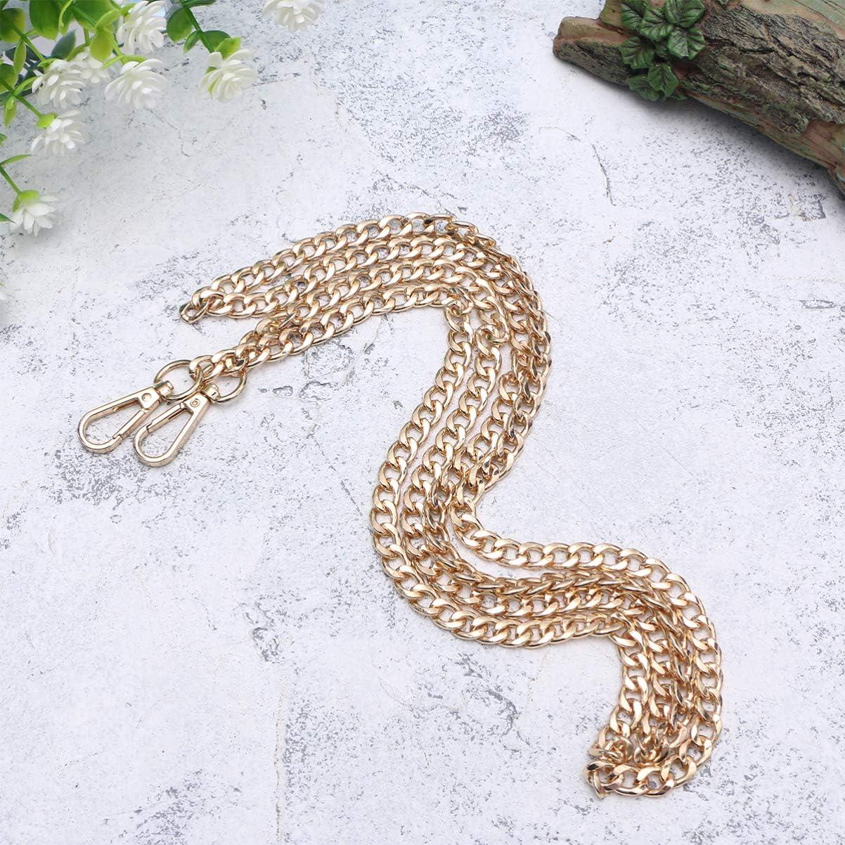 SUPVOX DIY Eisen Flache Kette Gurt Handtasche Ketten zubeh/ör geldb/örse Schulter ersatzgurt mit metallschnallen 160 cm Bronze