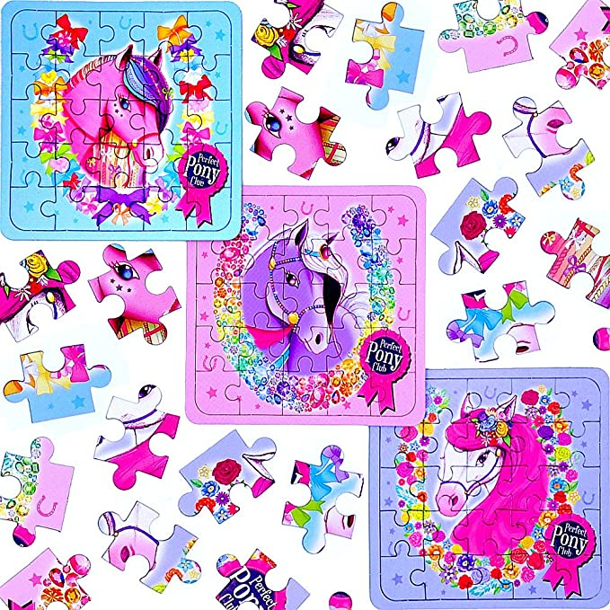 German Trendseller® 24 x Pferde Party PuzzleKindergeburtstagMitgebsel
