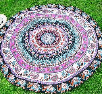Serviette de Plage Tapisserie Ronde Tapestry Impression Hippie Mandala Yoga  Mat Meditation Sunroyal Bohème Maxi Robe c8d45babcf9